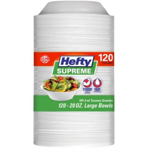 Hefty Supreme Foam Bowls (20 oz., 120 ct.)