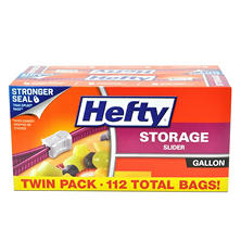 Hefty Slider Bag Gallon Storage Twin Pack (122 ct.)