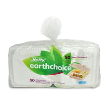 "Hefty Earthchoice Biodegradable 3-Compartment 9"" Hinged Lid Container (50 ct.)"