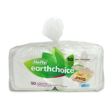 Hefty Earthchoice Biodegradable 3-Compartment 9