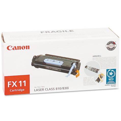 Canon FX11 Toner Cartridge, Black (4,500 Yield)