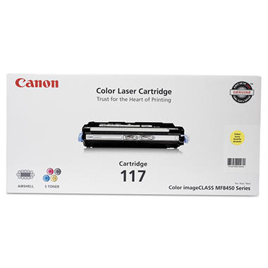 Canon 117 Toner Cartridge, Yellow(4,000 Page-Yield)