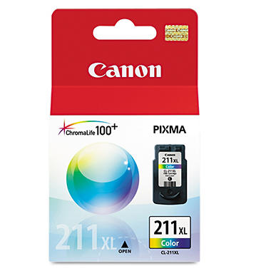 Canon CL-211XL High-Yield Ink Cartridge, Tri-Color (349 Page Yield)