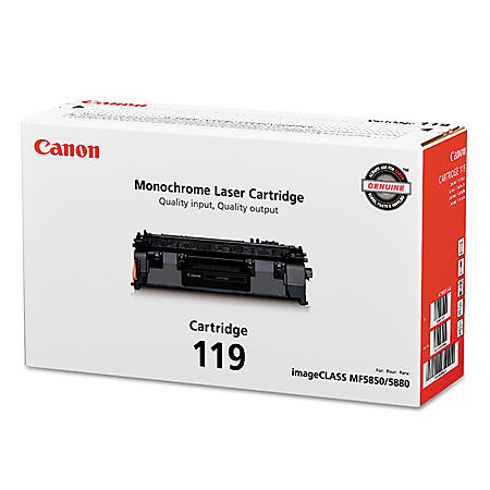 Canon 119 Toner Cartridge, Black, Select Type