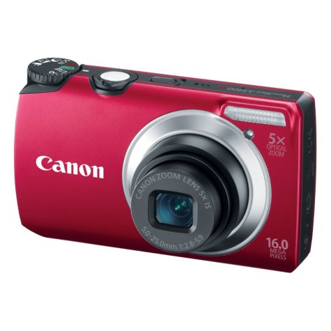 Canon A3300 IS 16MP Digital Camera - Red