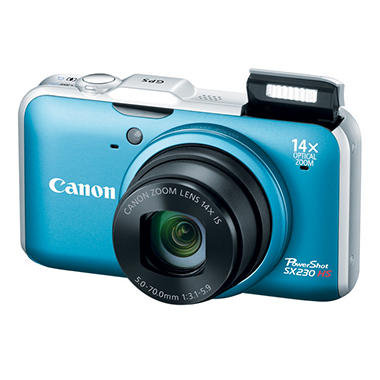 Canon SX230 12.1MP Digital Camera - Blue
