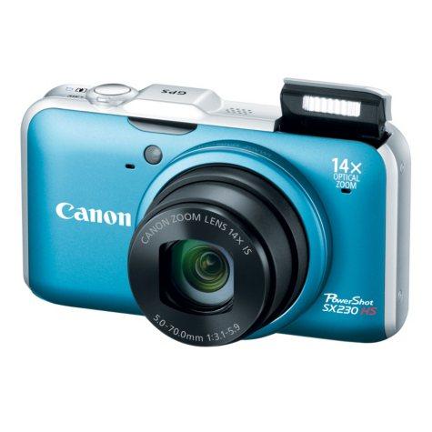 Canon SX230 12.1MP Digital Camera - Blue