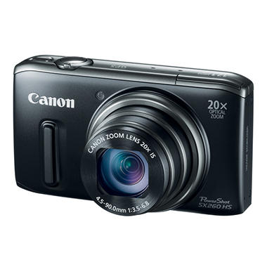 Canon SX260 12.1MP Digital Camera with 20x Optical Zoom - Black