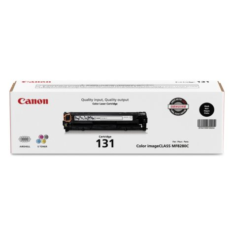 Canon CRG-131 Toner Cartridge, Black(1,400 Page-Yield)