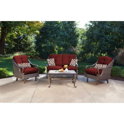 Ventura 4 Piece Seating Set, Multiple Color Choices