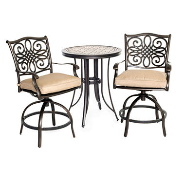 Monaco 3-Piece High Dining Bistro Set