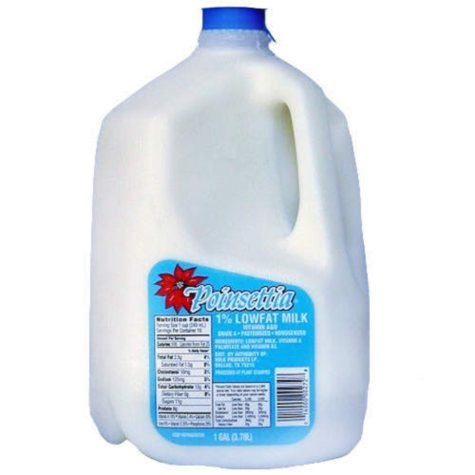 Poinsettia 1% Lowfat Milk - 1 Gal.