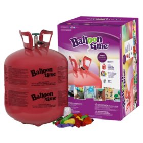 Balloon Time Jumbo Helium Kit 50 Balloons