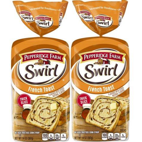 Pepperidge Farm French Toast Swirl Bread (2 pk., 28 oz.)