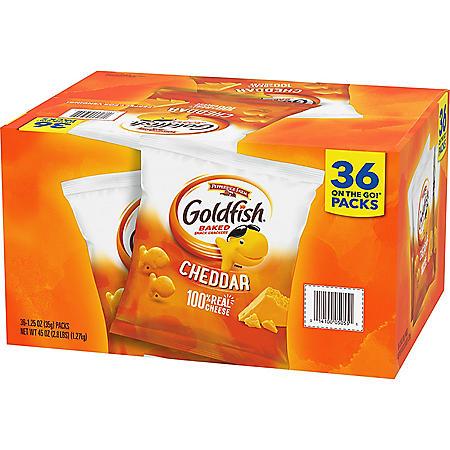 Pepperidge Farm Goldfish Cheddar Crackers (36 ct.,1.25 oz)