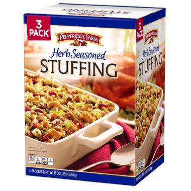 Pepperidge Farm Herb Seasoned Stuffing 16 Oz 3 Pk Sam S Club