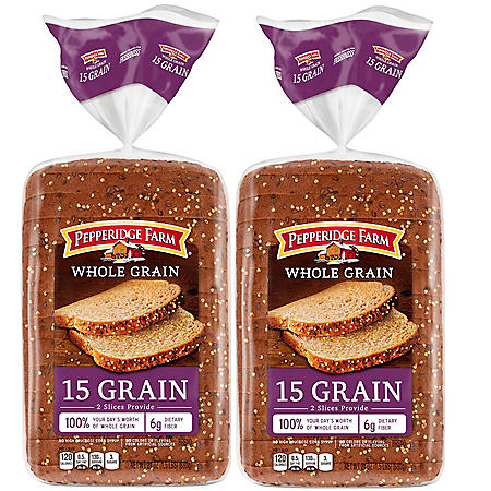 Pepperidge Farm Whole Grain 15 Grain Bread (24oz / 2pk)