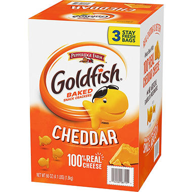 Pepperidge Farm Goldfish Cheddar Baked Snack Crackers (66 oz., 3 ct.)