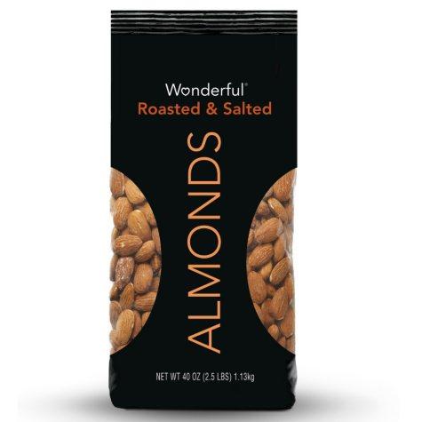 Wonderful Roasted Almonds (40 oz.)