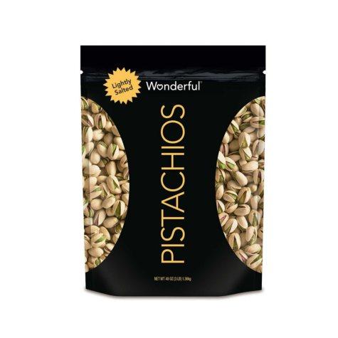 Wonderful Roasted Lightly Salted Pistachios (48 oz.)