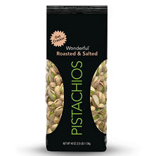 Wonderful Roasted and Salted Pistachios (40 oz.)
