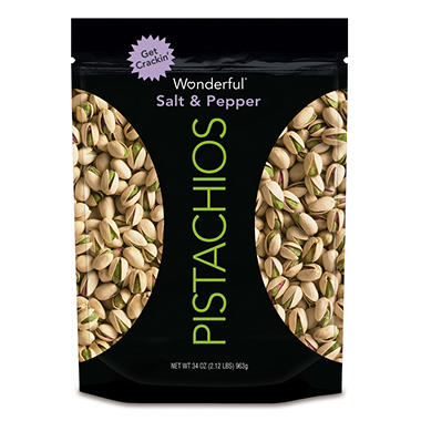 Wonderful Salt and Pepper Pistachios (34 oz.)