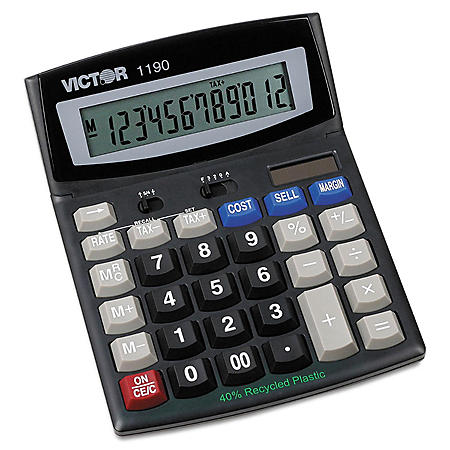 Victor 1190 Executive Desktop Calculator, 12-Digit LCD