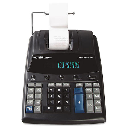 Victor 1460-4 Extra Heavy-Duty Two-Color Printing Calculator, 12-Digit Display