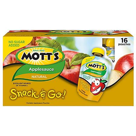 Mott's Applesauce Pouches - 3.2 oz. - 16 ct.