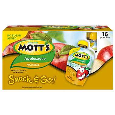 Mott's Applesauce Pouches - 3.2 oz. - 16 ct.