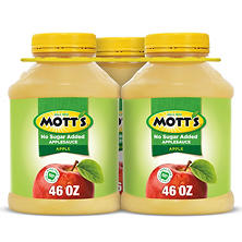 Mott's Unsweetened Applesauce (46 oz. ea., 3 ct.)
