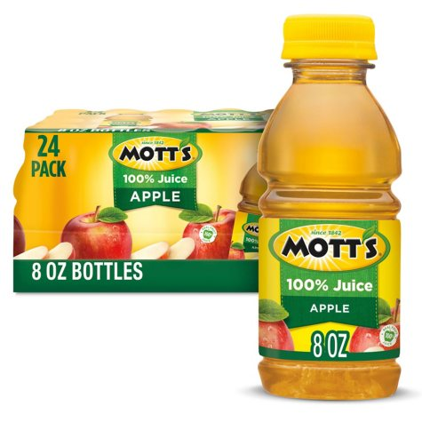Mott's 100% Apple Juice (8 oz., 24 pk.)