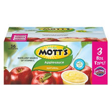 Mott's Natural Applesauce (3.9 oz. ea., 36 ct.)