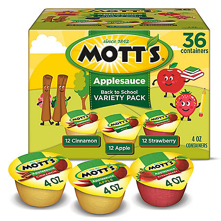 Motts Applesauce Variety Pack (4 oz., 36 pk.)