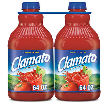 Clamato Tomato Cocktail (64 oz. bottles, 2 pk.)