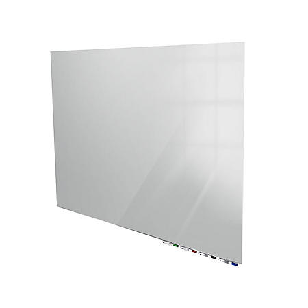 """Ghent Aria Magnetic Low Profile 1/4"""" Glassboard, Horizontal Gray - Choose Size"""