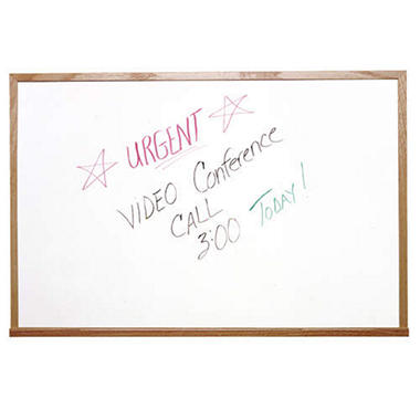 Ghent Wood Frame Non-Magnetic Whiteboard, 18
