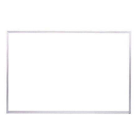 """Ghent Aluminum Frame Porcelain Magnetic Whiteboard, 48.5"""" x 72.5"""", White"""