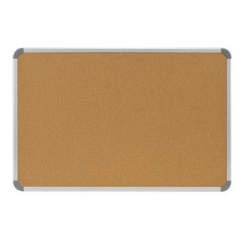 "Ghent Aluminum Radial Edge Euro-Style Frame Natural Cork Bulletin Board, 36"" x 48"", Natural"