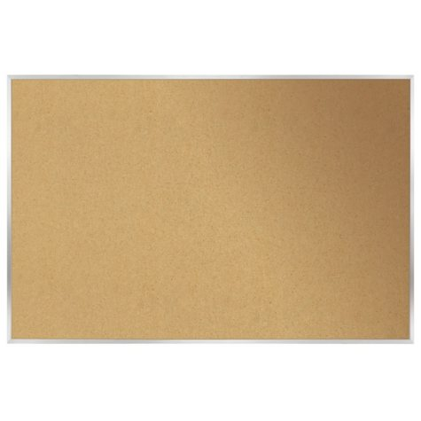"Ghent Aluminum Frame Natural Cork Bulletin Board, 18"" x 24"", Natural"
