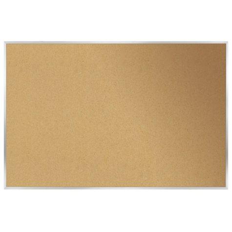 "Ghent Aluminum Frame Bulletin Board, 36.0"" x 46.5"" (Natural Cork)"
