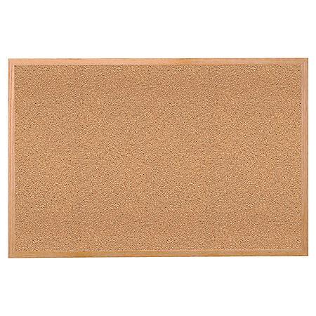 Ghent Wood Frame Natural Cork Bulletin Board - Choose Size