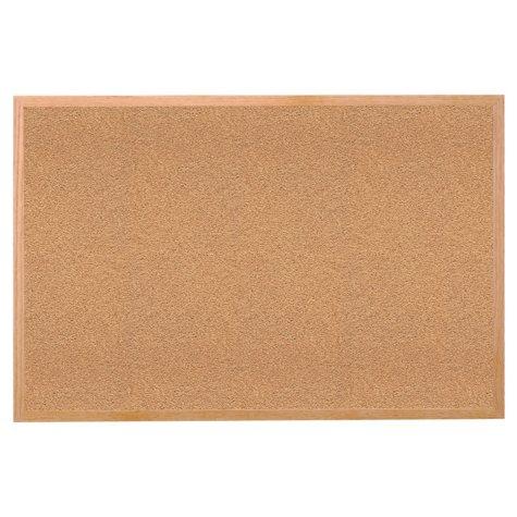 "Ghent Wood Frame Natural Cork Bulletin Board, 24"" x 36"", Natural"