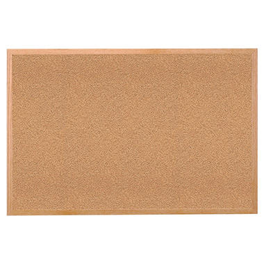 Ghent Wood Frame Cork Bulletin Board, 36