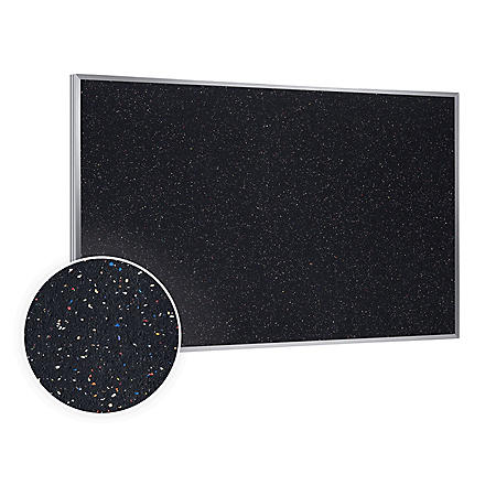 Ghent Aluminum Frame Recycled Rubber Bulletin Board, Confetti - Choose Size