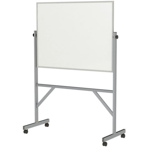 "Ghent Reversible Double Sided Whiteboard, 4 Markers & Eraser, 72.125"" x 53.25"", White"