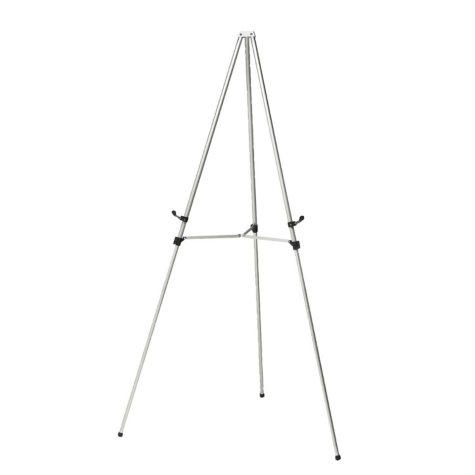 Ghent Aluminum 3-Leg Telescoping Easel, Satin