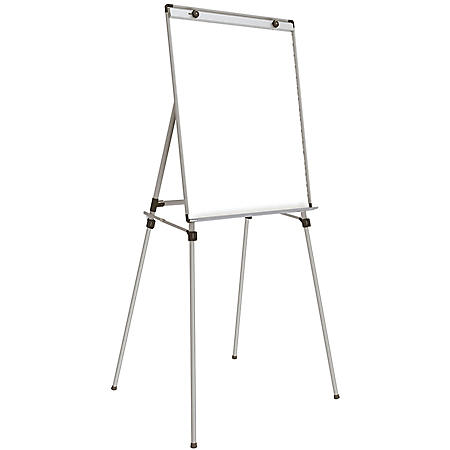 """Ghent 4 Leg Easel with Magnetic Whiteboard, 36"""" x 28"""", White"""