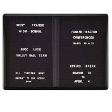 "Ghent 2-Sliding Doors Ovation Letter Board,  34"" x 47"" (Black)"