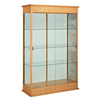 Varsity Display Case w/ Fabric Back - Autumn Oak